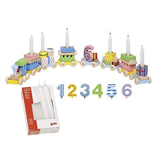 goki 2286 - Geburtstagszug mit Kerzen Rosa (Weiß)