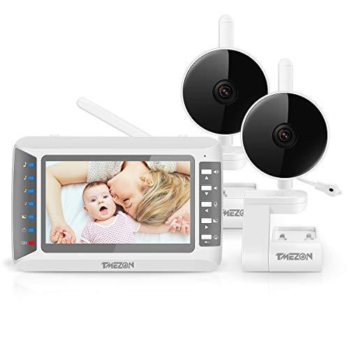 TMEZON Babyphone mit 2 Kamera, Baby Monitor...