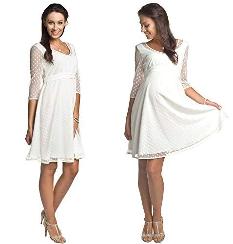 Torelle Damen Hochzeitskleid Umstandskleid Brautkleid Nicht nur für Schwangere, Modell: Marina, Creme, 3XL