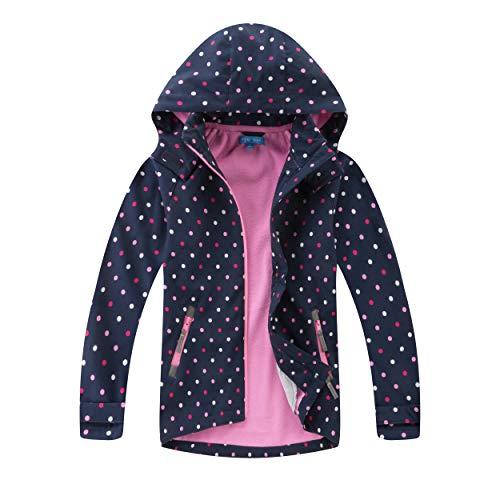 Natashas Kinder Mädchen Wasserdicht Jacke Übergangsjacke Fleecefütterung Warm Atmungsaktiv Winddicht...