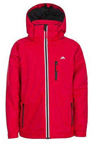 Trespass Cornell II, Red, 2/3, Warme Gepolsterte Wasserdichte Jacke mit abnehmbarer Kapuze für Kinder /...