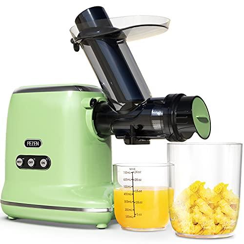 FEZEN Slow Juicer, Entsafter für Obst und Gemüse, 8-stufige Spiralmühlen Technologie & Ruhiger Motor &...