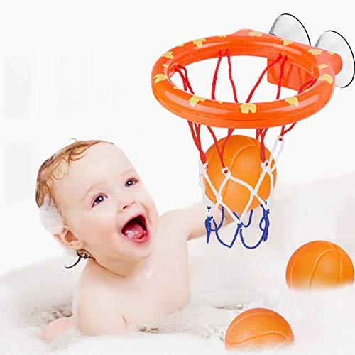 WEARXI Wasserspielzeug Badespielzeug Baby, Kinder Badewannenspielzeug Bällebadewannen Basketballkorb, Jungen...