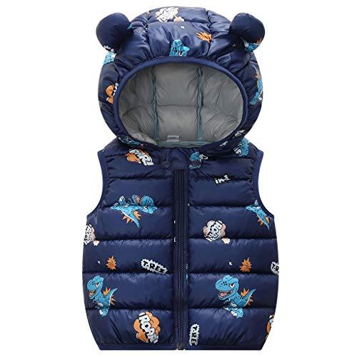 Baby Winter Weste Mantel Kinderjacke Steppweste Kleinkind ärmellose Leicht Warm Gepolstert Outwear Blau 3-4...