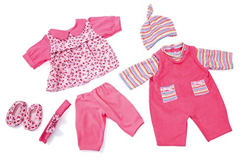 Bayer Design 8461900 - Puppenkleidung Set für Puppen, 42-46 cm