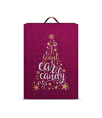 SIX Schmuck-Adventskalender für Frauen mit I Want Ear Candy Schriftzug und 24 raffinierten Überraschungen,...