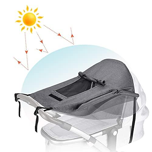 goldmiky Premium Sonnensegel für Kinderwagen - Universal Kinderwagen Sonnenschutz Abdeckung mit UV Schutz 50+...