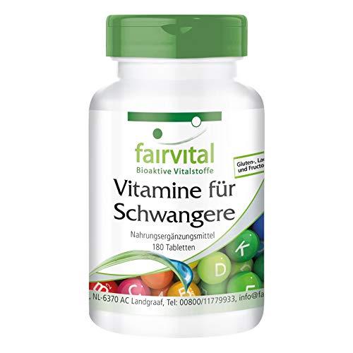 Vitamine für Schwangere - mit 800µg Folsäure pro Tablette - für Schwangerschaft & Kinderwunsch - für 6...