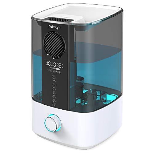 Nulaxy Top Fan Luftbefeuchter 4.5L mit RGB, Top-Füllung Raumluftbefeuchter mit Saubere Alarm Kühler Nebel...