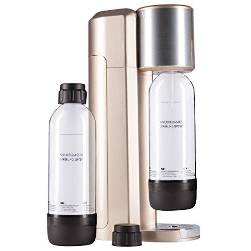 Levivo Wassersprudler Set / Trinkwassersprudler Starter Set inkl. 2 Sprudlerflaschen aus PET, klassischer...