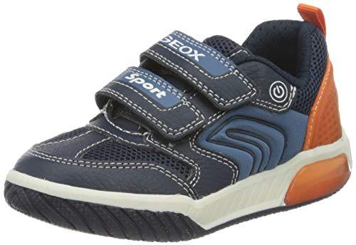 Geox Jungen J INEK Boy D Sneaker, Blau (Navy/Orange C0820), 33 EU