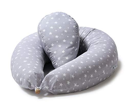Niimo Stillkissen Seitenschläferkissen Schwangerschaftskissen + Klein Kissen zum Schlafen Lagerungskissen mit...
