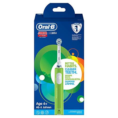 Oral-B Junior Elektrische Zahnbürste für Kinder ab 6 Jahren, mit weichen Borsten & Timer, 1 Putzprogramm,...