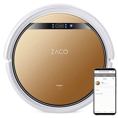 ZACO V5x Saugroboter mit Wischfunktion, App & Alexa Steuerung, 8,1cm flach, automatischer Roboter, 2in1...