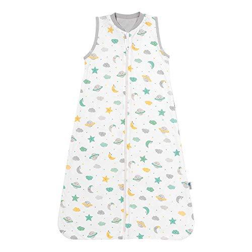 Schlummersack Babyschlafsack für den Sommer ungefüttert in 0.5 Tog - Moon & Stars - 6-18 Monate / 90 cm