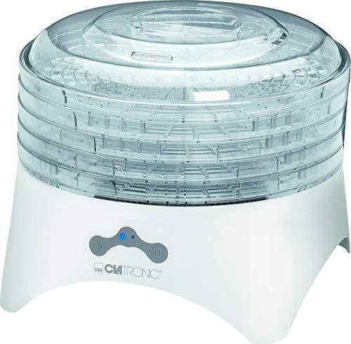 Clatronic DR 3525 Dörrautomat (300 Watt, trocknet Obst, Gemüse, Kräuter, Fleisch und mehr, 5 stapelbare...