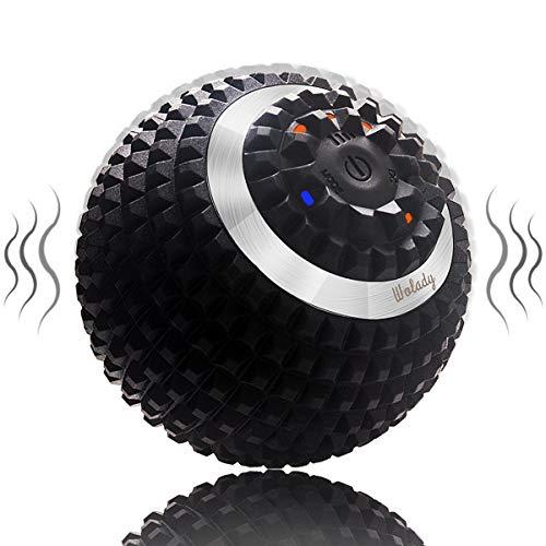 Wolady Elektrisch Massageball vibrierender Massageball Faszienball zur Selbstmassage für Muskel und Plantar...