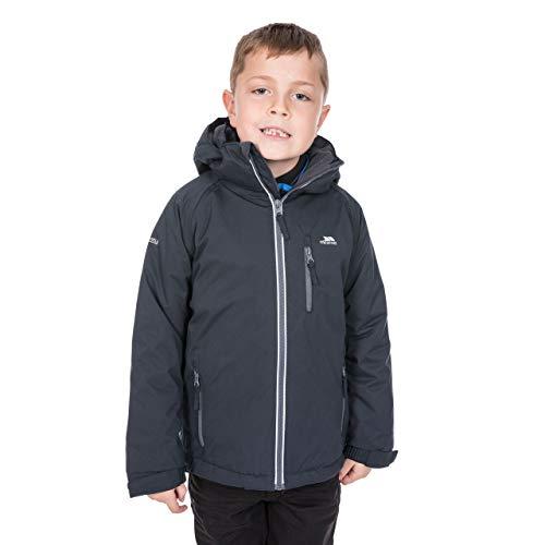 Trespass Cornell II, Navy, 5/6, Warme Gepolsterte Wasserdichte Jacke mit abnehmbarer Kapuze für Kinder /...