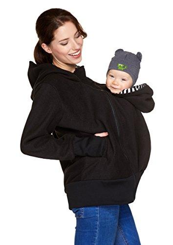 Be! Mama 3in1 - Tragejacke/Pulli & Umstandsjacke & Damenjacke in einem aus kuscheligem Fleece, Modell:...
