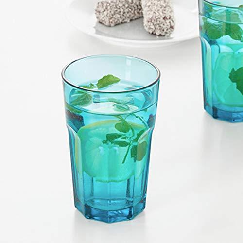 10 x IKEA Glas Heißgetränke Wasserglas Saft Cocktailglas Trinkbecher 35cl türkis