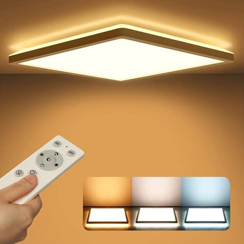 VECINO Led Deckenleuchte Panel Dimmbar mit Fernbedienung, Deckenlampe Flach 24W 2400LM IP44 2.5cm Ultra Dünn,...