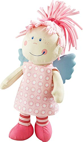 HABA Puppe Wiebke: ;Stoffpuppe mit Kleid zum an- und ausziehen für Kinder von 0-5 Jahren