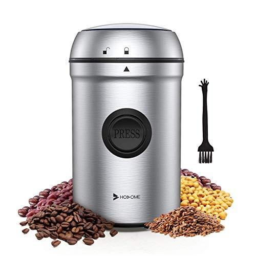Hosome Kaffeemühle Elektrische, 200W Edelstahl Kaffeemühle, 25000 U/min Leistungsstarker Motor...