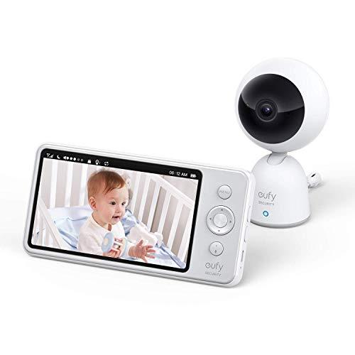 eufy Security Babyphone, Baby Monitor 720p Auflösung, 5 Zoll Display, starke Akkuleistung, beidseitige...