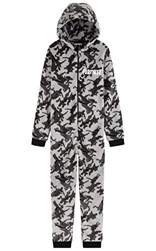 Fortnite Jumpsuit Kinder, Schlafanzug Jungen und Teenager, Camouflage Onesie Kinder, Kleidung, Gamer Geschenk,...