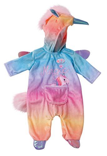 Zapf Creation 828205 BABY born Kuschelanzug Einhorn, Puppenkleidung 43 cm
