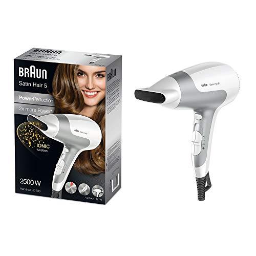 Braun Satin Hair 5 Power Perfection Haartrockner HD 580, mit IonTec, 2500 Watt