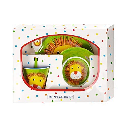 Die Spiegelburg 15500 Melamin Kindergeschirr Geschenkset Löwe Freche Rasselbande