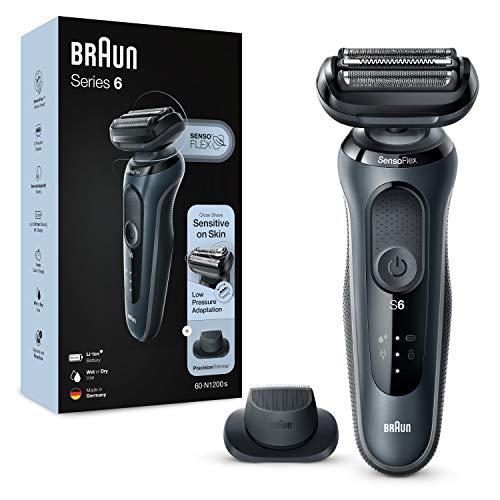 Braun Series 6s Sensitiver Rasierer Herren, Präzisionstrimmer, Wet&Dry, 50 Min. Laufzeit, Elektrorasierer mit...