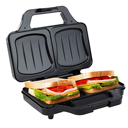 Ultratec Sandwichtoaster (900 Watt, elektrischer Muschelform, Sandwich Maker für XXL Toast,...