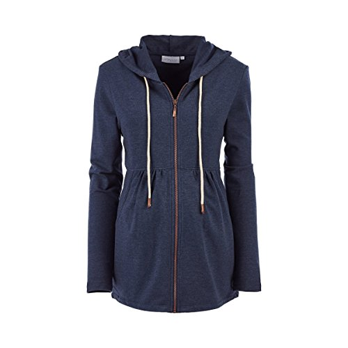 2HEARTS 'We Love Basics Umstands- und Still-Jacke Athleisure blau/Umstandskleidung/Damen...