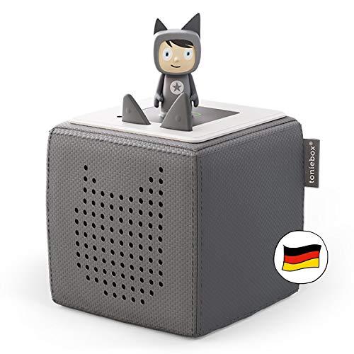 Toniebox Starterset anthrazit grau: Toniebox + Kreativ-Tonie - Der tragbare Lautsprecher für Tonies...
