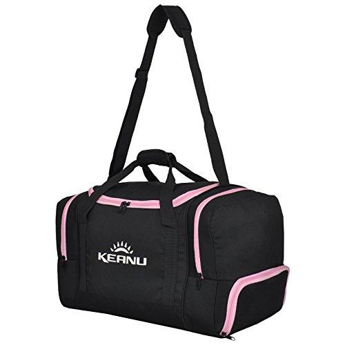 KEANU Praktische Sporttasche 60 Liter :: faltbar, Wäschefach, Wertfach Fitness Yoga Sauna :: Grosse...
