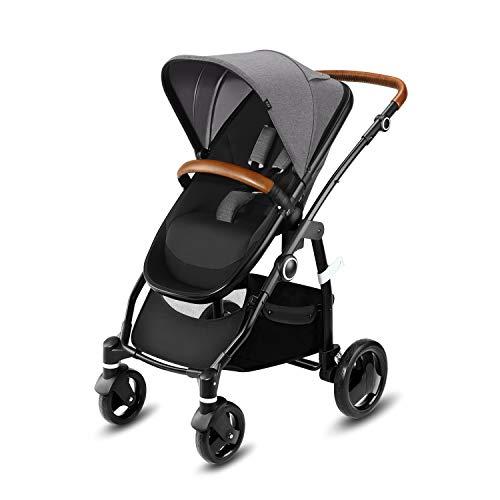 cbx Kombikinderwagen Leotie Lux mit wendbarem Luxsitz, Kunstlederaccessoires und faltbarem Kinderwagenaufsatz...