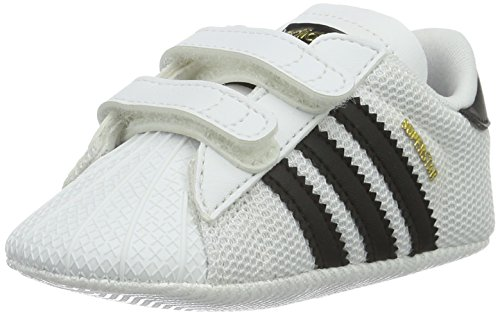 adidas Unisex Baby Superstar Crib Hausschuhe, Weiß (Ftwbla/Negbas 000), 21 EU