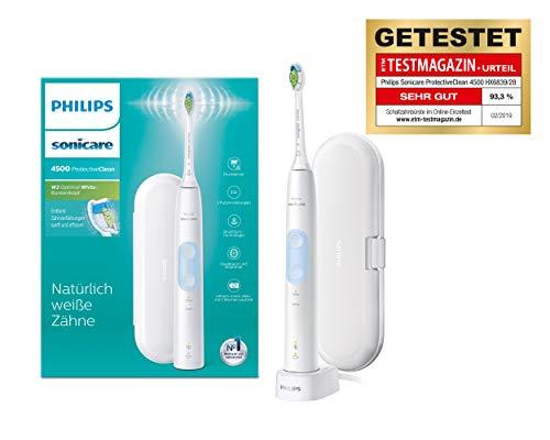 Philips Sonicare ProtectiveClean 4500 elektrische Zahnbürste HX6839/28 – Schallzahnbürste mit 2...