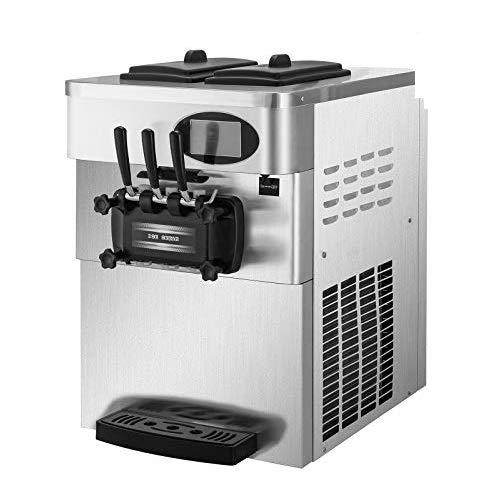 BuoQua Speiseeisbereiter Edelstahl Farbe Kommerzielle Softeismaschine Eismaschine Ice Cream maker 220V...