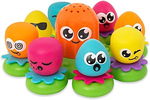 TOMY Wasserspiel für Kinder 'Okto Plantschis' Mehrfarbig, Hochwertiges Kleinkinderspielzeug, Spielzeug für...