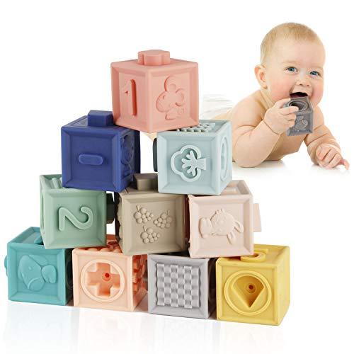 Mini Tudou Baby Bausteine Spielzeug Stapelwürfel Bauen motorikspielzeug Baby Beißring,Lehrreich...