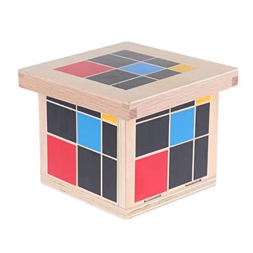Baoblaze Montessori Lehrmaterial Trinomischer Würfel Set Jungen Mädchen Holzspielzeug Geschenk