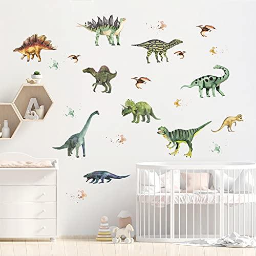RosewineC Dinosaurier Wandsticker,Wandaufkleber Wanddeko für Junge Wohnzimmer Deko,Dino Wandsticker für...