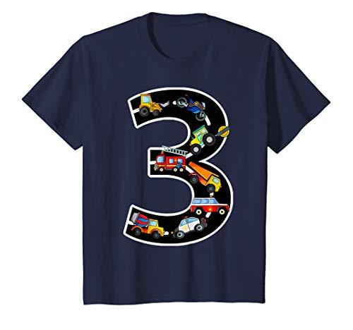 Kinder Geburtstagsshirt 3 Jahre Fahrzeuge Jungen 3. Geburtstag T-Shirt