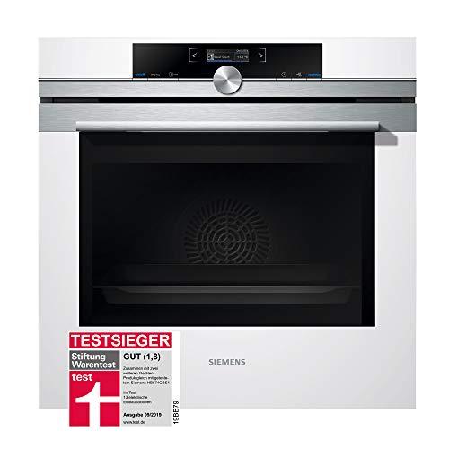 Siemens iQ700 Einbau-Elektro-Backofen HB674GBW1 / Weiß / A+ / activeClean Selbstreinigungs-Automatik /...