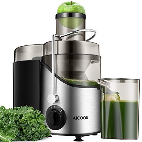 Entsafter Gemüse und Obst AICOOK, 75MM Große Einfüllöffnung Zentrifugaler Entsafter mit 2...