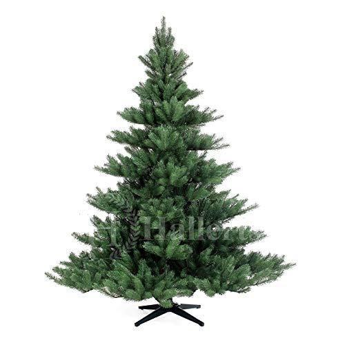 Original Hallerts® Spritzguss Weihnachtsbaum Alnwick 180 cm Nordmanntannne - Christbaum zu 100% in Spritzguss...
