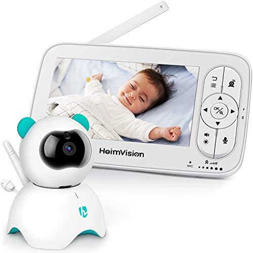 HeimVision Babyphone mit Kamera, 5-Zoll-LCD-Babyphone, HD 720P-Video, Zwei-Wege-Audio, Temperatur- und...
